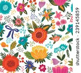 amazing floral vector seamless... | Shutterstock .eps vector #239145859