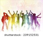 dancing people | Shutterstock .eps vector #239152531