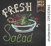 colored illustration of salad....   Shutterstock .eps vector #239152861