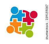 teamwork community logo... | Shutterstock .eps vector #239155087
