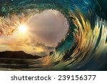 beautiful ocean surfing wave at ... | Shutterstock . vector #239156377