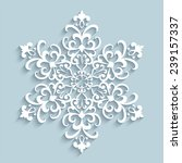 Paper Snowflake  Vector Lace...