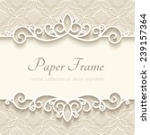 vintage vector background with... | Shutterstock .eps vector #239157364