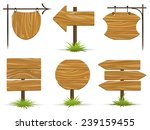 wooden pointers and signs.... | Shutterstock .eps vector #239159455
