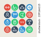 set of simple sports icons | Shutterstock .eps vector #239166115