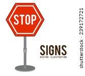 signs design over white... | Shutterstock .eps vector #239172721