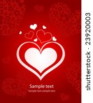 valentin s day card with hearts | Shutterstock .eps vector #23920003