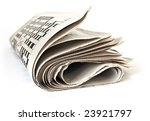 fold up a newspaper isolated on ... | Shutterstock . vector #23921797