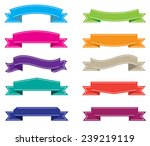 set of color ribbons.vector... | Shutterstock .eps vector #239219119