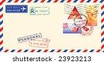 Air Mail Envelope For Valentin...
