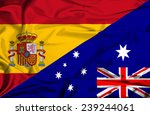 waving flag of australia and... | Shutterstock . vector #239244061