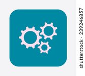 icon of gears. flat style.  | Shutterstock .eps vector #239246857
