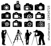 photographers and cameras vector | Shutterstock .eps vector #23924725