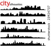 city silhouettes great set...   Shutterstock .eps vector #23924737