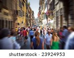 crowd on a narrow italian... | Shutterstock . vector #23924953