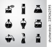 perfume icons set with... | Shutterstock .eps vector #239262595