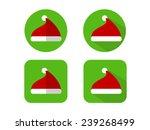 santa hat icons | Shutterstock .eps vector #239268499