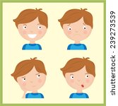 illustration with four... | Shutterstock .eps vector #239273539