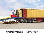 forklift on loading dock