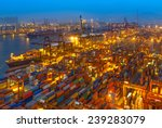 industrial port with containers | Shutterstock . vector #239283079