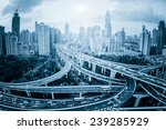 shanghai elevated road junction ... | Shutterstock . vector #239285929