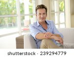 portrait of single middle aged...   Shutterstock . vector #239294779