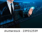 businessman trading stock by... | Shutterstock . vector #239312539