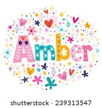 amber female name decorative...   Shutterstock .eps vector #239313547
