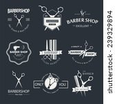 vector set of retro barber shop ... | Shutterstock .eps vector #239329894