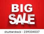 vector big sale background | Shutterstock .eps vector #239334037