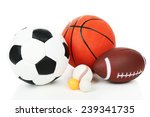 sports balls isolated on white | Shutterstock . vector #239341735