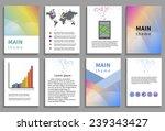 set of flyer  brochure design... | Shutterstock .eps vector #239343427