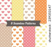 set of valentine seamless... | Shutterstock .eps vector #239353147