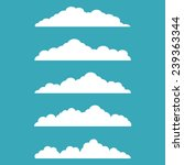vector illustration of clouds...