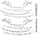 doodle tree branches and party... | Shutterstock .eps vector #239388325