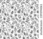 seamless coffee pattern   Shutterstock .eps vector #239394061