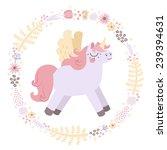 unicorns vector background ... | Shutterstock .eps vector #239394631