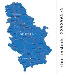 serbia  map | Shutterstock .eps vector #239396575
