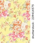 flowers seamless pattern   for ... | Shutterstock . vector #239414575