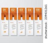 design clean number banners... | Shutterstock .eps vector #239431261