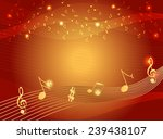 music notes on gold color... | Shutterstock .eps vector #239438107