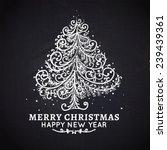 christmas tree. vector ... | Shutterstock .eps vector #239439361