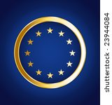 golden european vector flag | Shutterstock .eps vector #23944084