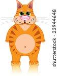 fat red cartoon cat | Shutterstock .eps vector #23944648