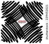 black marker abstract shape  ... | Shutterstock .eps vector #239452021