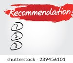 hand writing recommendation... | Shutterstock .eps vector #239456101