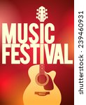 music festival concert poster... | Shutterstock .eps vector #239460931