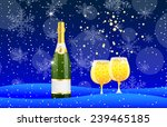 bottle and two glasses of... | Shutterstock .eps vector #239465185