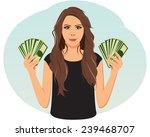 smiling businesswoman is... | Shutterstock .eps vector #239468707