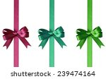 set of bows with ribbons... | Shutterstock . vector #239474164